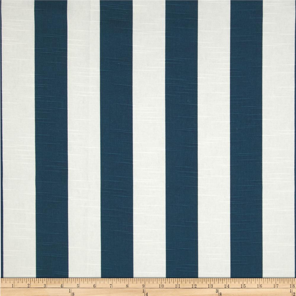 Premier Prints Stripe Slub Navy