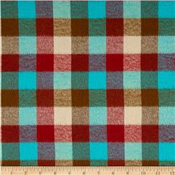 Kaufman Durango Flannel Plaid Teal