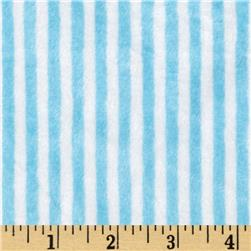 Minky Cuddle Classics Ministripe Turquoise/Snow