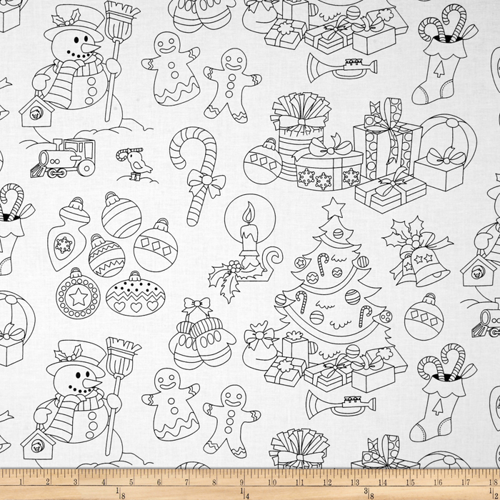 Michael Miller Color Me Jolly Holiday Fabric by Michael Miller in USA