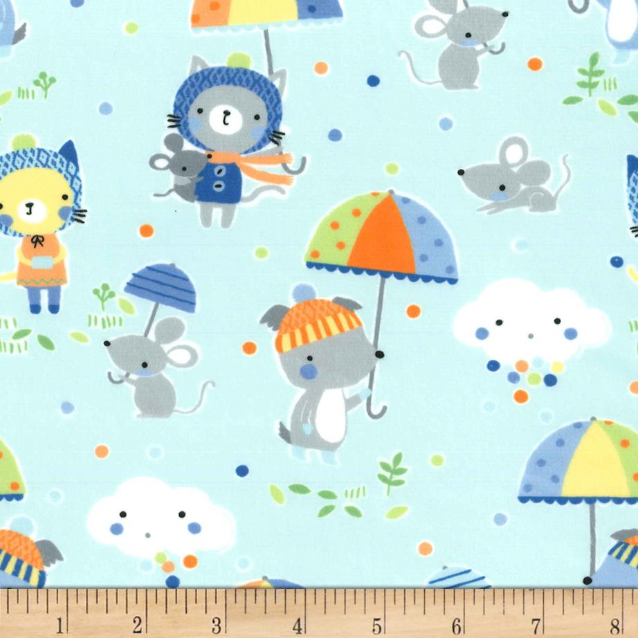 Michael Miller Minky Puddle Play Periwinkle