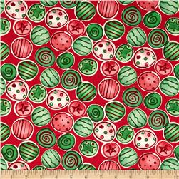 Joyful Holiday Shiny and Bright Traditional Fabric