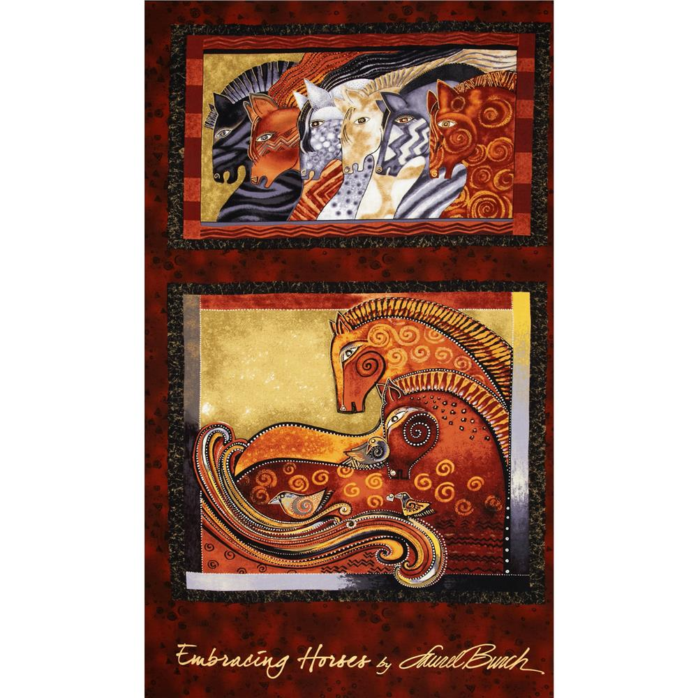 Laurel Burch Embracing Horses Metallic 24