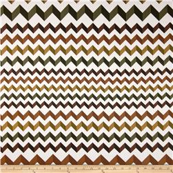 Crinkle Stripe White/Brown