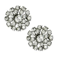2.3cm Glass Rhinestone Button