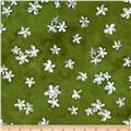 Daisy Love Flannel Daisies Small Green
