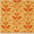 Ink & Arrow Willow Damask Gold/Orange