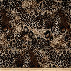 Soft Jersey Knit Animal Cheetah Tan