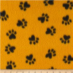 Fleece Paw Print Black/Yellow