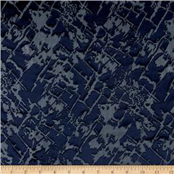 Rayon/Silk Nuance Burnout Navy