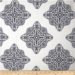 Esperanza Medallion White/Navy Fabric