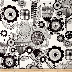 Alexander Henry Prairie House Wild Flower Black/White Fabric