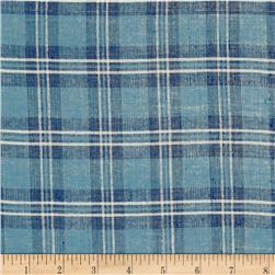 Metallic Shot Cotton Buffalo Plaid Blue/White