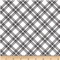 Maywood Studio Kimberbell Basics Diagonal Plaid Black