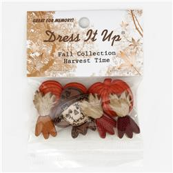 Dress It Up Embellishment Buttons  Harvest Time