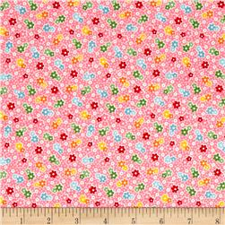 Riley Blake Backyard Roses Floral Pink