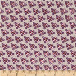 Edith Triangle Floral Purple