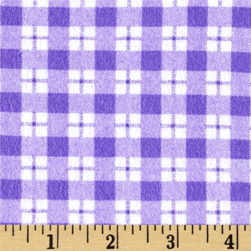 Ric Rac Paddywack Flannel Plaid Lilac Fabric By The Yard