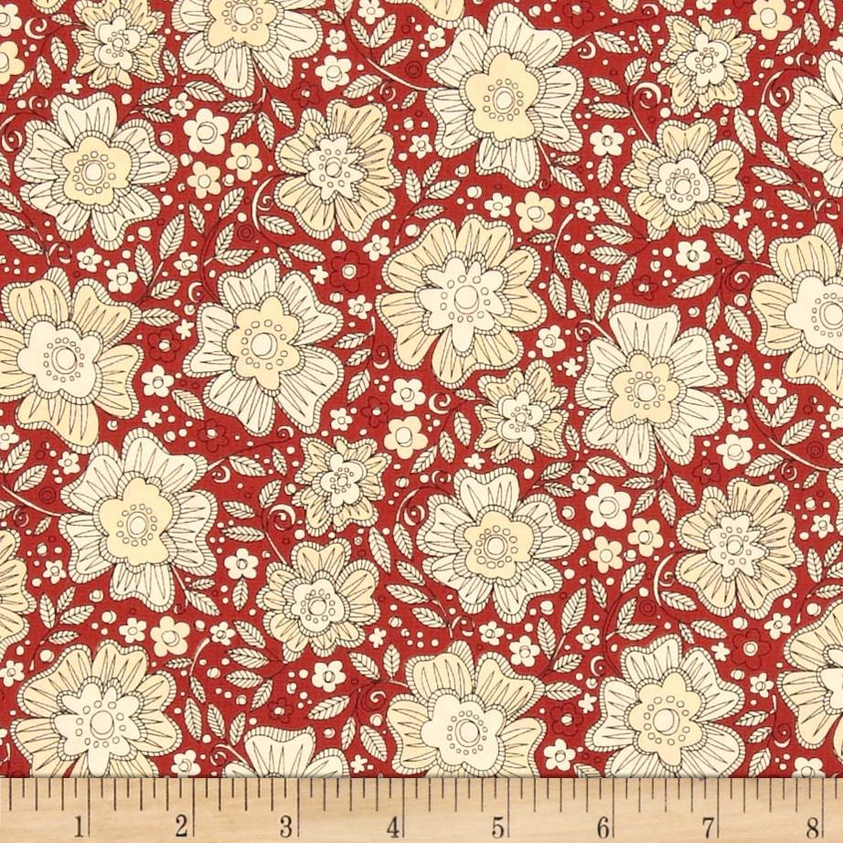 Love More Floral Red