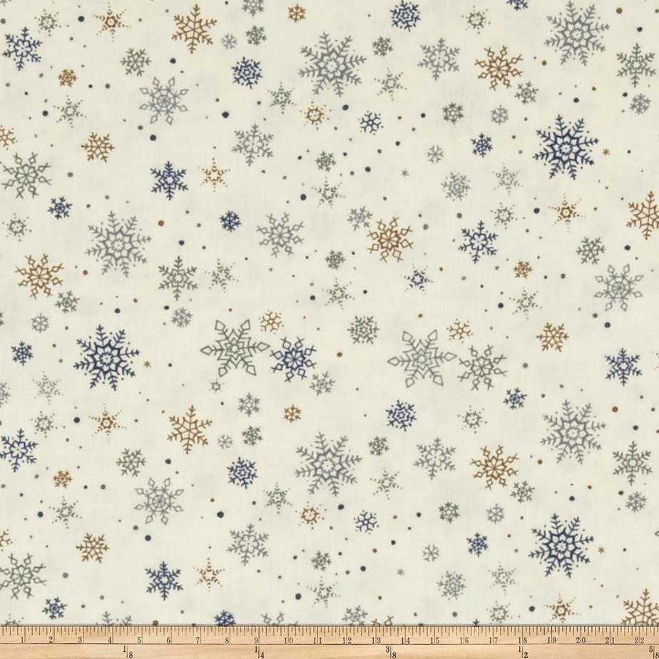 Moda Town Square Snow Flakes Frost-Multi