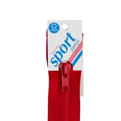 "Coats & Clark Sport Separating Zipper 16"" Atom Red"