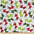 Robert Kaufman Jingle Flannel Small Deer Ice