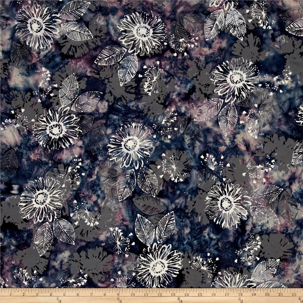 Bali Batiks Handpaints Daisy Evening