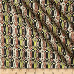 Liberty of London Silk Twill Sanhiti Brown