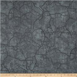 Classic Indian Map Grey