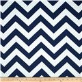 RCA Chevron Blackout Drapery Fabric Blue