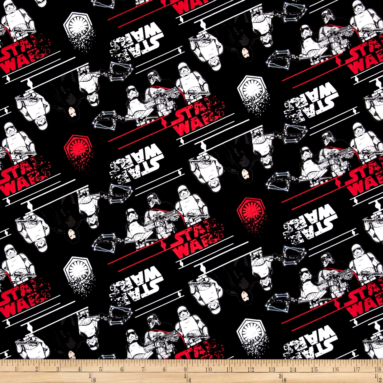 Star Wars The Last Jedi First Order Black Fabric 0555404