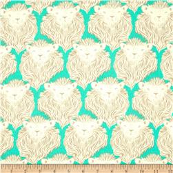 Cotton & Steel August Lion Teal