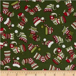 Holly Jolly Stockings Green