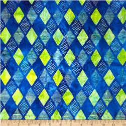 Kaufman Elemental Batiks Geos Diamond Stripe Cabana