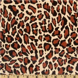 Oil Cloth Jaguar Natural Brown Fabric