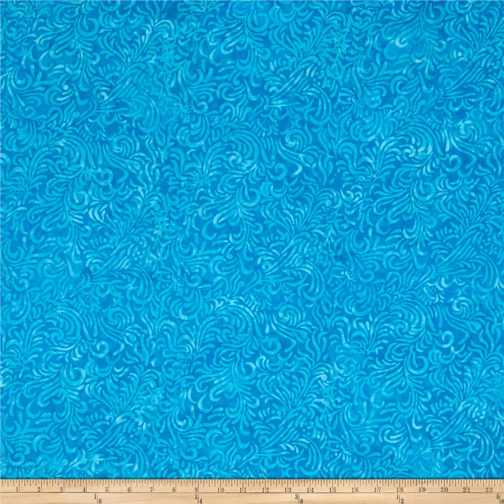 Wilmington Batiks Flourish Ice Blue - Discount Designer ...