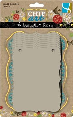 Chip Art By Melody Ross Chipboard Book Kit Small Bracket