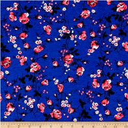 Fashion Jersey Knit Floral Navy