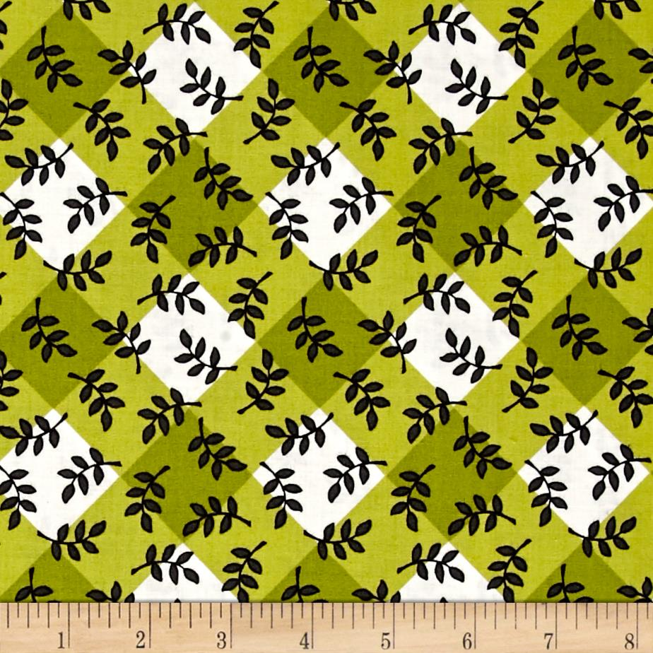 Mary Engelbreit Leaf Plaid Green