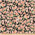 Timeless Treasures Flowers Pink/Black