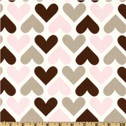 Premier Prints I Heart U Bella Pink/Cozy