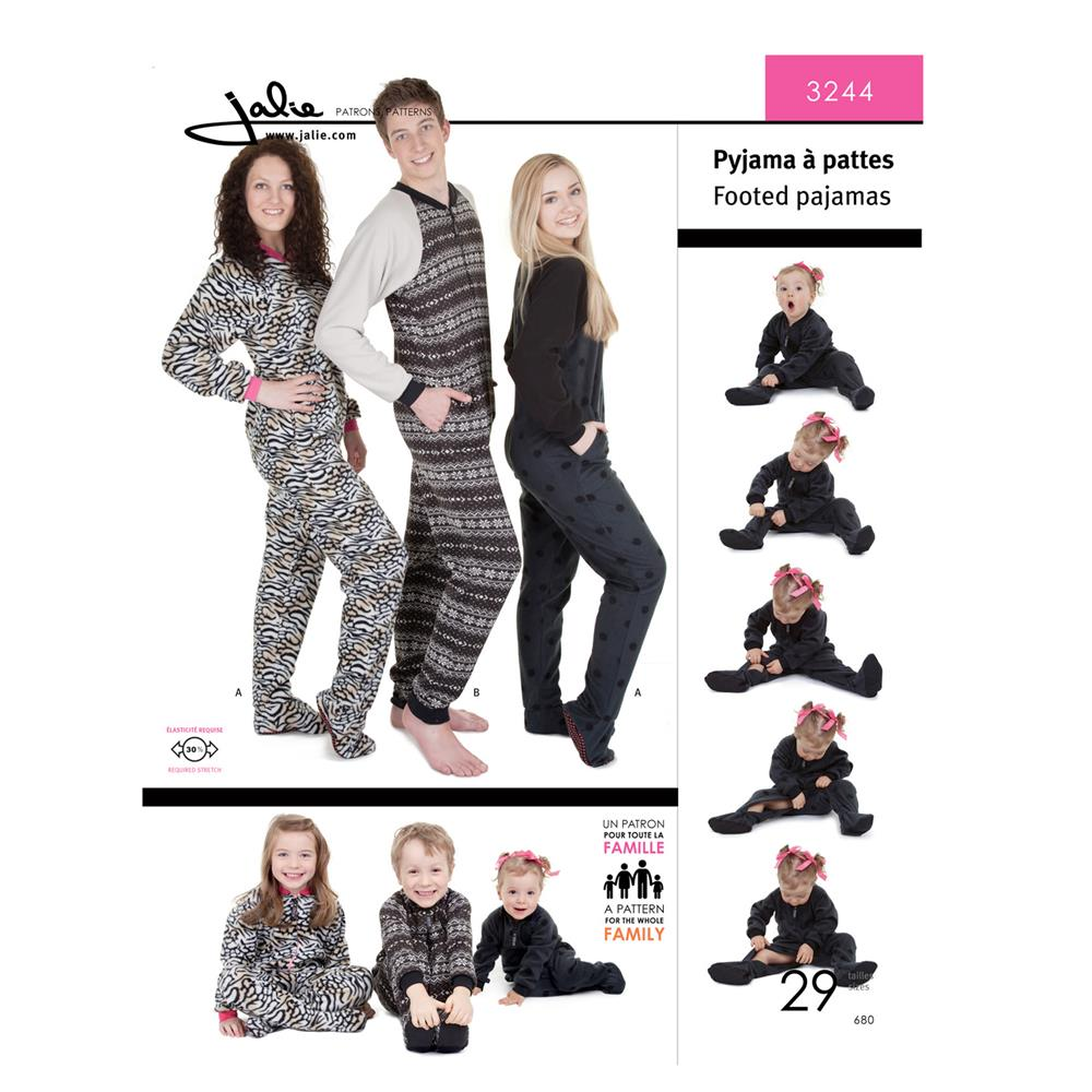 Jalie Footed Pajamas Pattern - Discount Designer Fabric - Fabric.com
