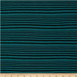 Onion Skin Striped Jersey Knit Green/Black