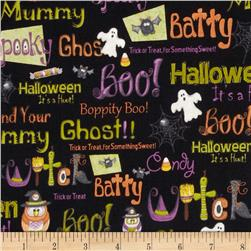 Boppity Boo! Words & Ghosts Black