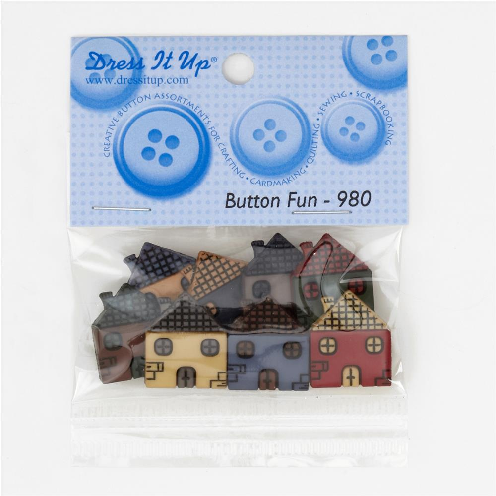 Dress It Up Embellishment Buttons  Houses