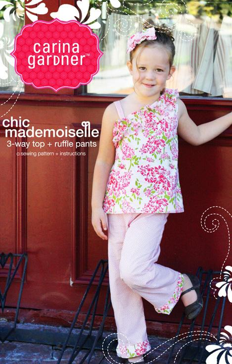 Carina Gardner Chic Mademoiselle Girls Top & Pants Pattern