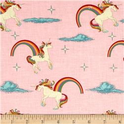 Riley Blake Unicorns & Rainbows Unicorn Pink Fabric