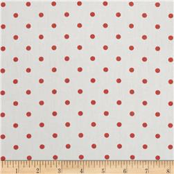 Premier Prints Mini Dots Twill White/Coral