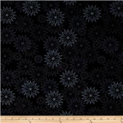 Timeless Treasures Forever Snowflakes Light Ebony