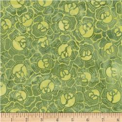 Timeless Treasures Tonga Batiks Lagoon Cabbage Patch Kiwi